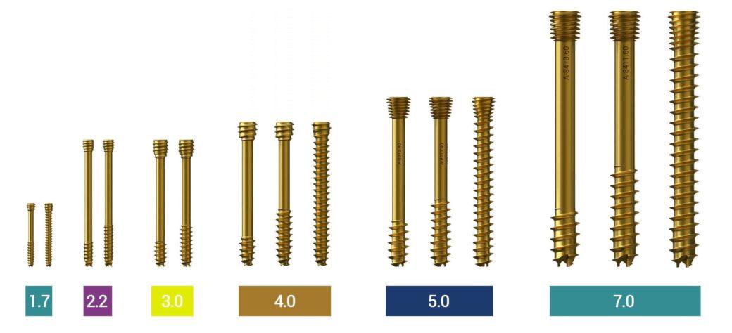SpeedTip® Cannulated Compression Screws 1.7 | 2.2 | 3.0 | 4.0 | 5.0 | 7.0